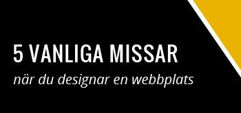 fem vanliga missar webbdesign