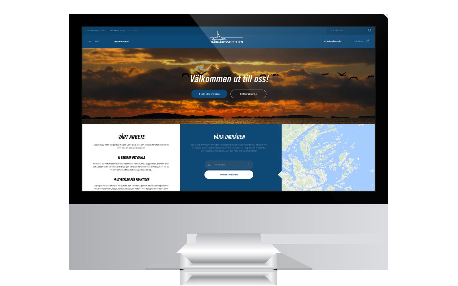 Ny webb till Skärgårdsstiftelsen gjord av Panang Kommunikation i Falun, Dalarna