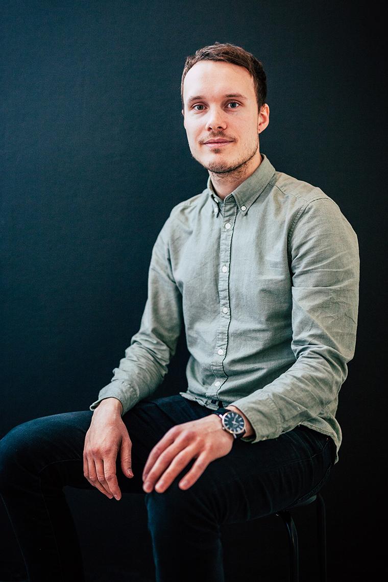 Panang Kommunikations medarbetare Victor Bergström, utvecklare/praktikant