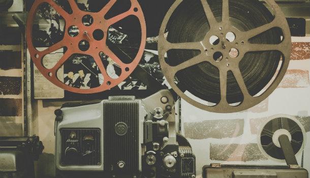 En gammaldags filmprojektor.