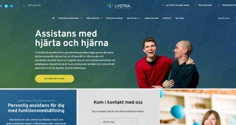 Lystra Assistans webbplats startsida