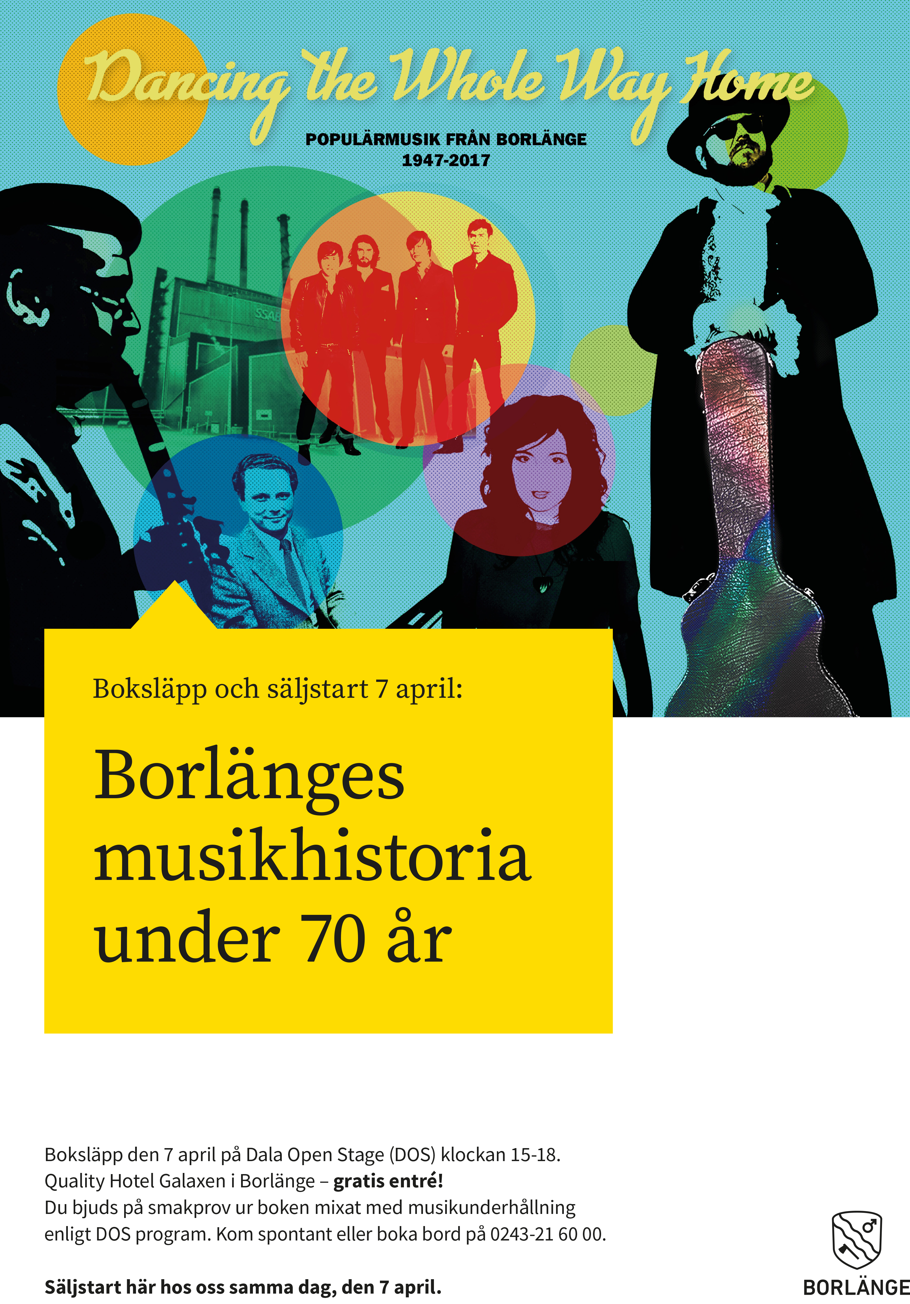 Boken Dancing the Whole Way Home – populärmusik från Borlänge under 70 år