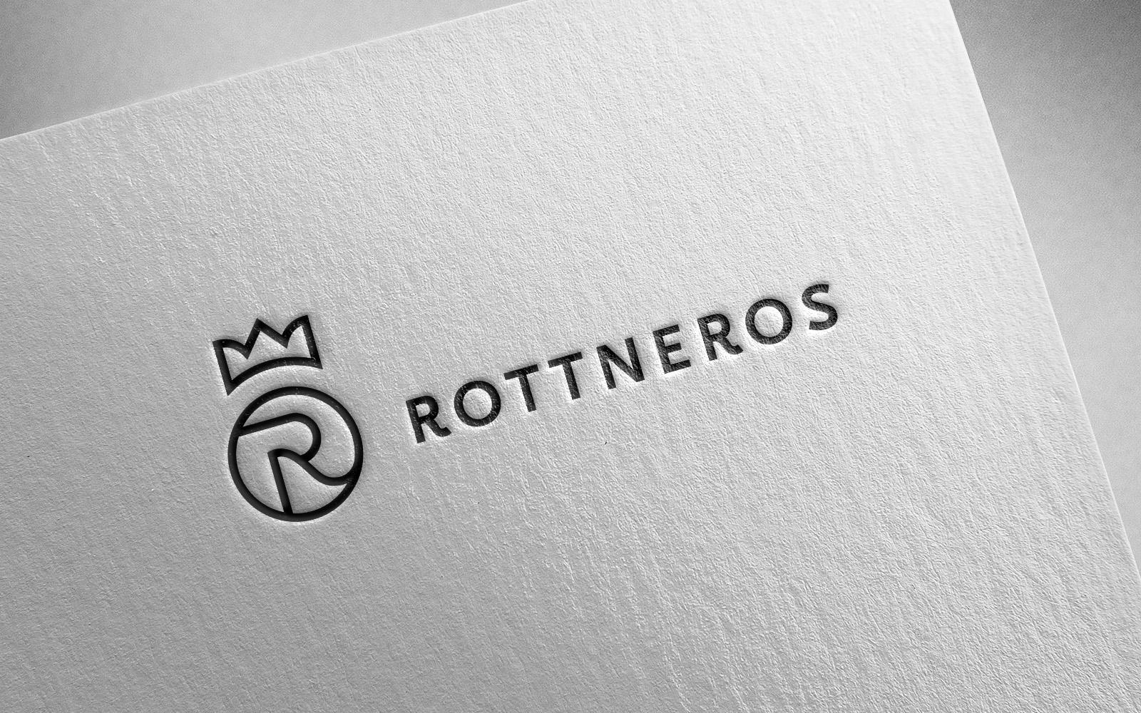 Rottneros AB nya logotype på strukturerat papper